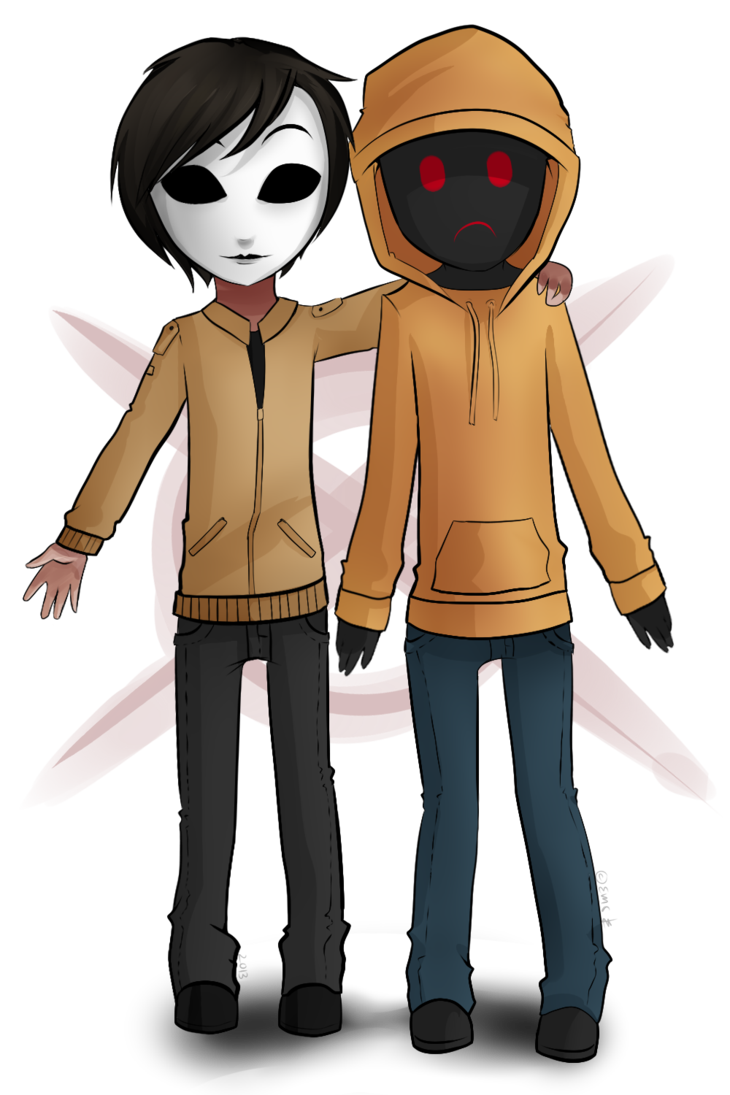 hoodie and masky