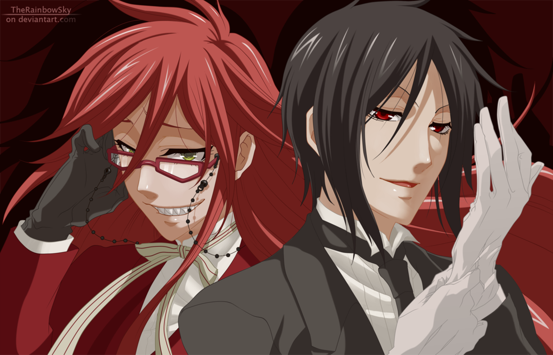 Grell x Sebatian Me:*high fives*