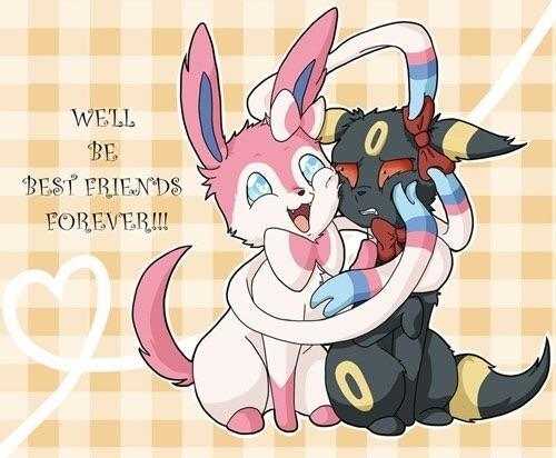 Sylveon and Umbreon