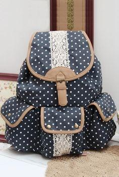 Polka Dotted Dark Blue