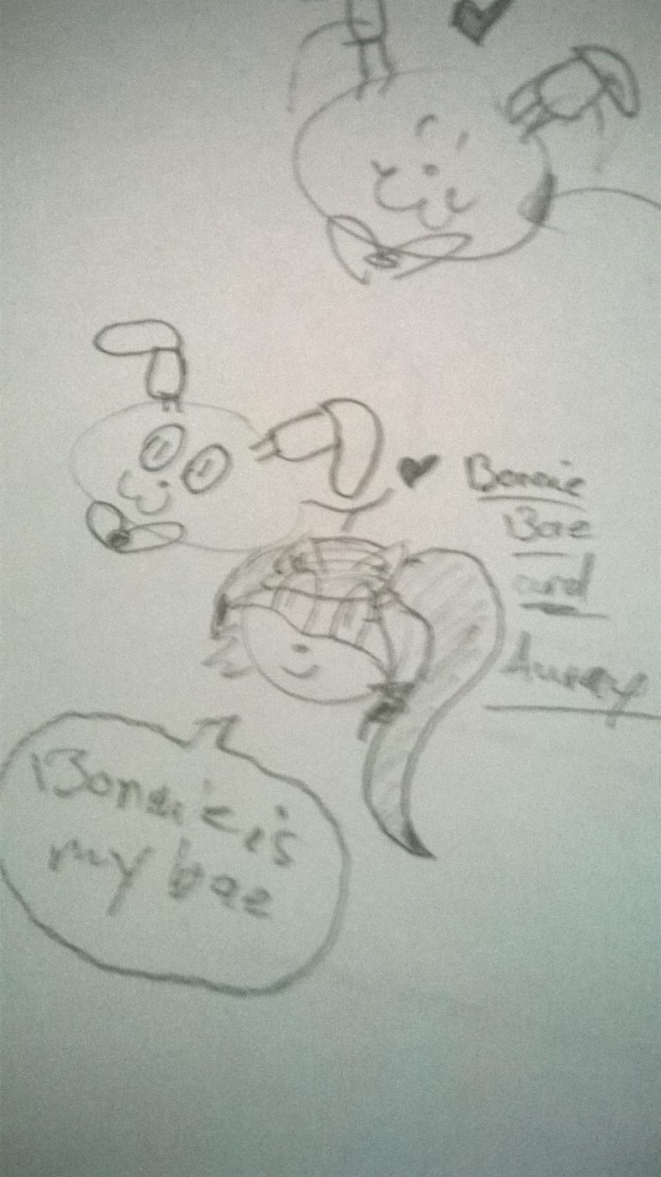 Bonnie x Aurey (lol pls don't pick this one xD I only call him my bae cause I like him a lot :3 pic is weird btw!)