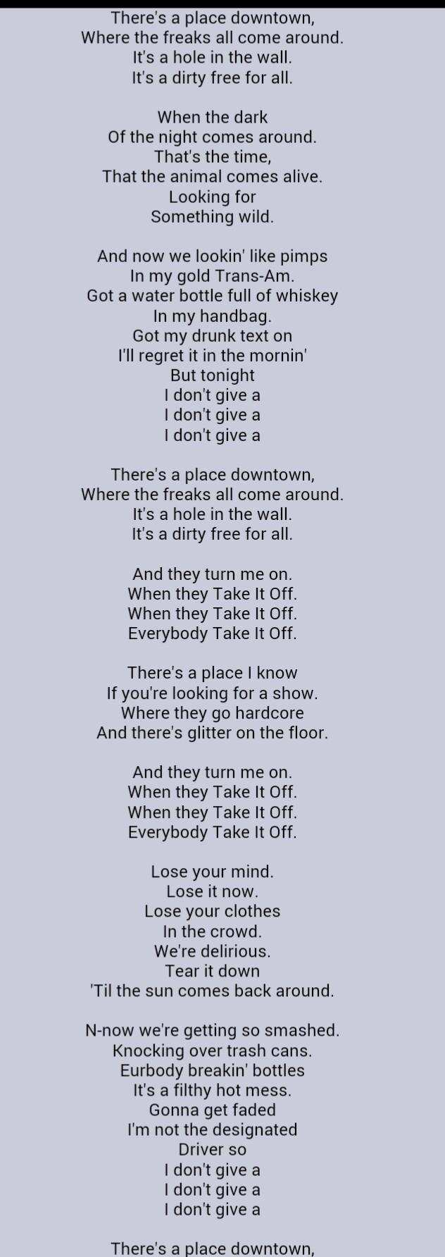 Take it off - Kesha