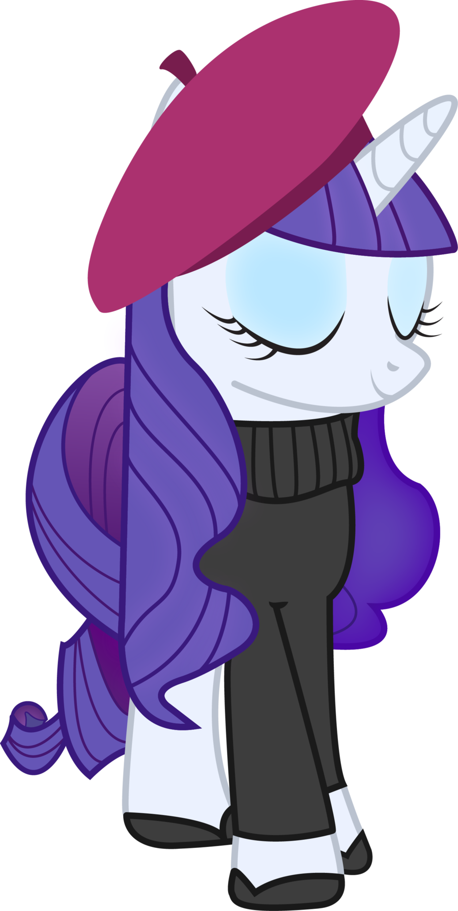 Rarity's french-like look