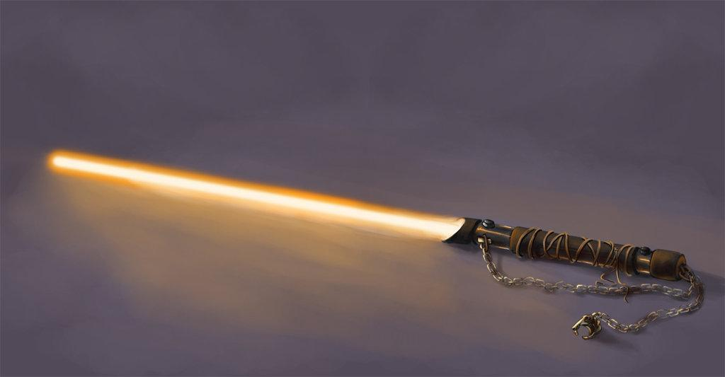 Gold lightsaber
