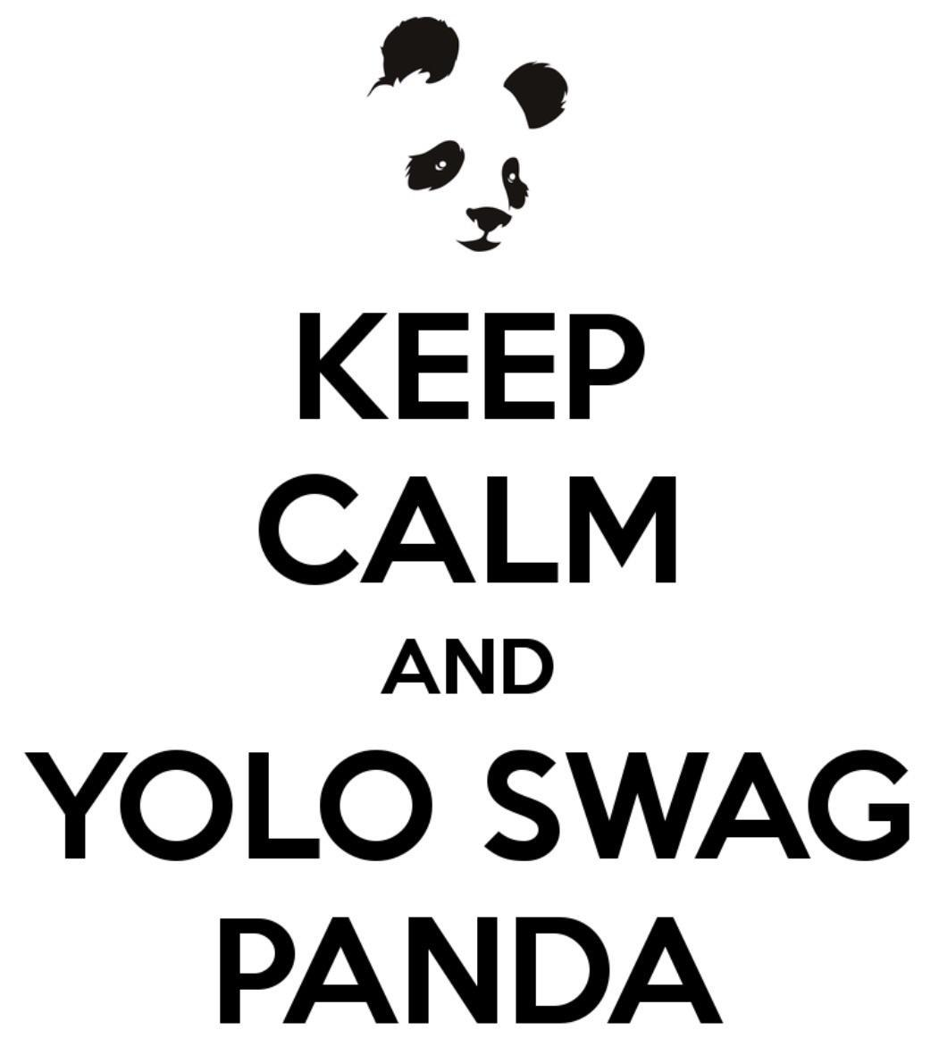 Keep calm and YOLO swag panda