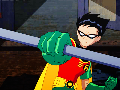 robin leader of the teen titans and has feelings for star