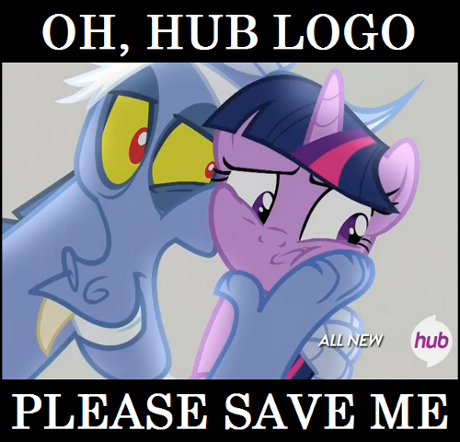 Twilight wants hub logo to save her