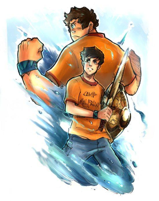 The children of Poseidon (Percy and Tyson)
