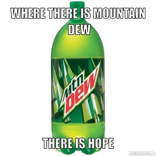 Can of Mountain Dew