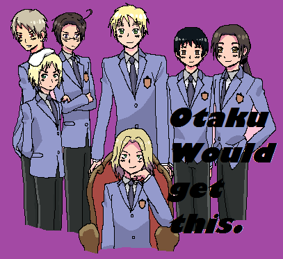 Ouran High School Host Club (This Picture Is A Combination Of Hetalia and OHSHC)