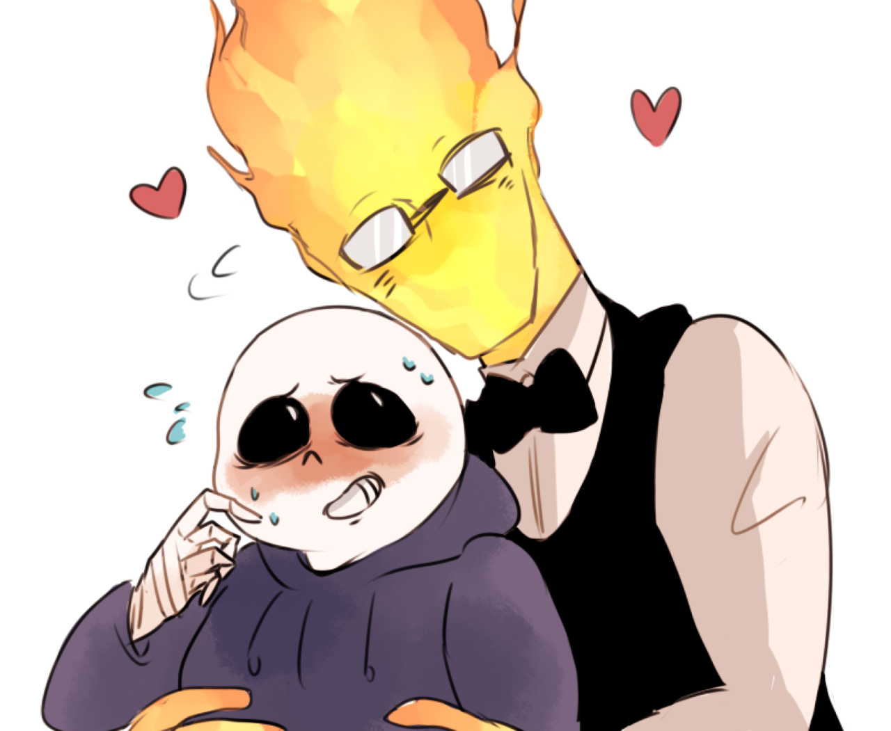 Sansby ( Sans x Grillby )