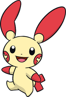 Plusle: No choose me! I'll make you smile!