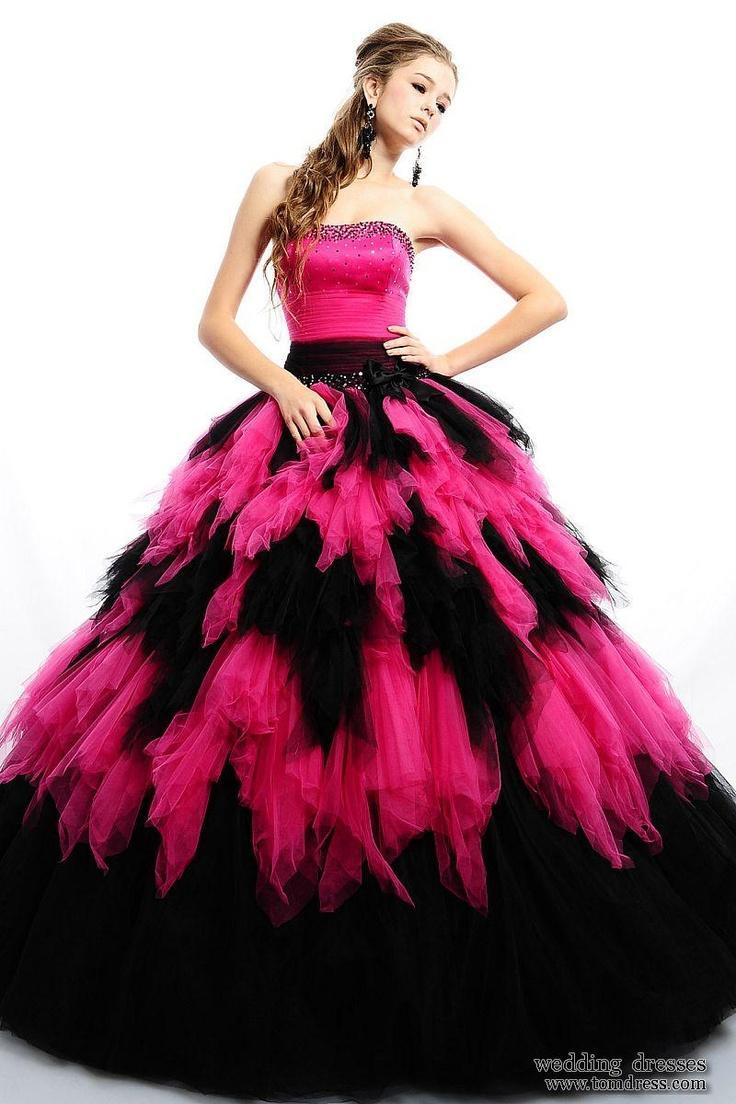 Poufy Feathered Gown