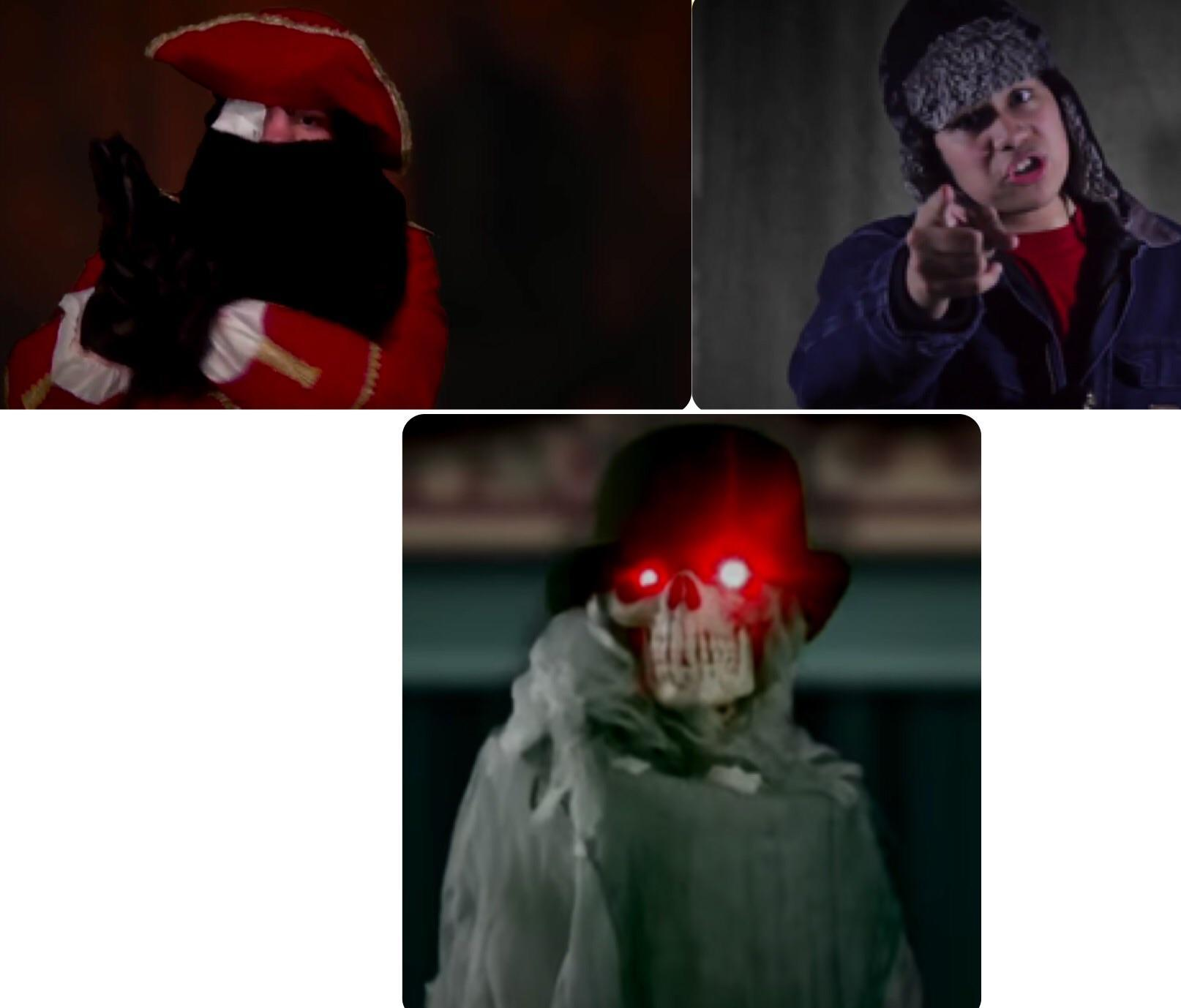 Skintaker, Pirate Percy, and Horrible Horrace