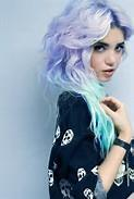 Pastel purple-blue ombre