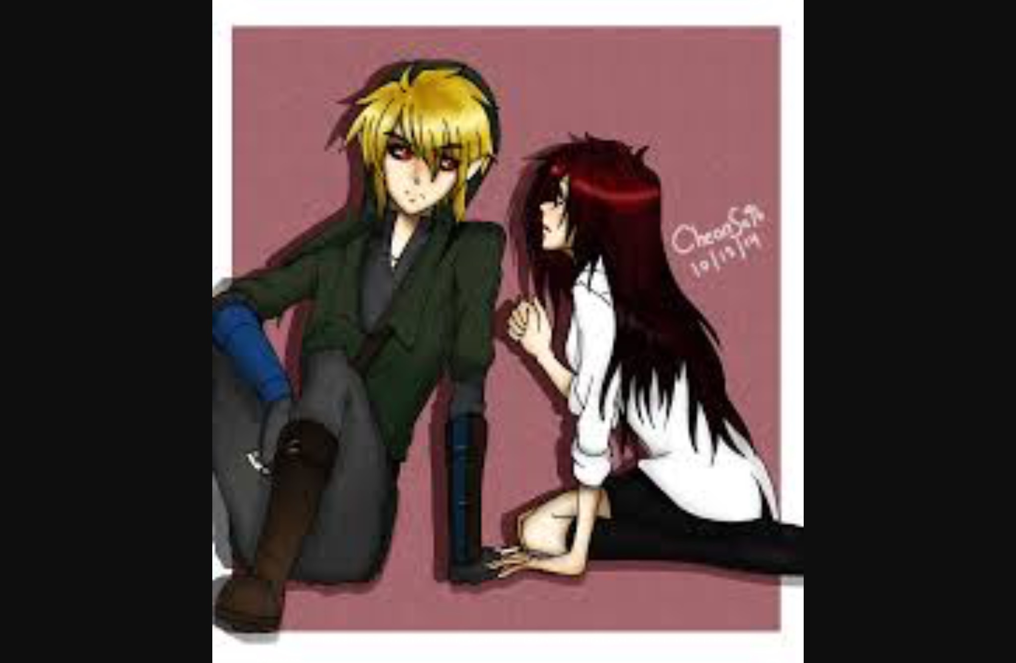 BEN DROWNED (picture of Ben and me)