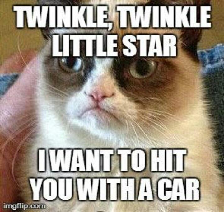 Twinkle Twinkle...I'm surprised she would acually sing that song,