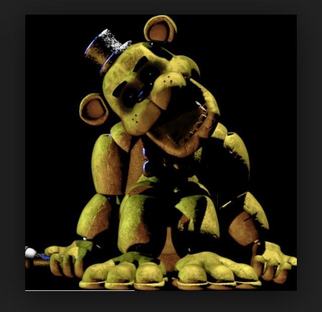 Golden Freddy (wrecked body,old figure from dinner)