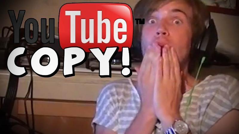 YOU'RE COPYING ON YOUTUBE!