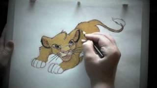 How to Draw and Color Simba
