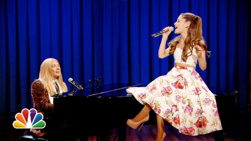 Jimmy Fallon & Ariana Grande Sing Broadway Versions of Rap Songs (Late Night with Jimmy Fallon)