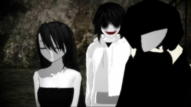 [MMD] Kagekao, Jeff & Jane the Killer Somebody That I used to know