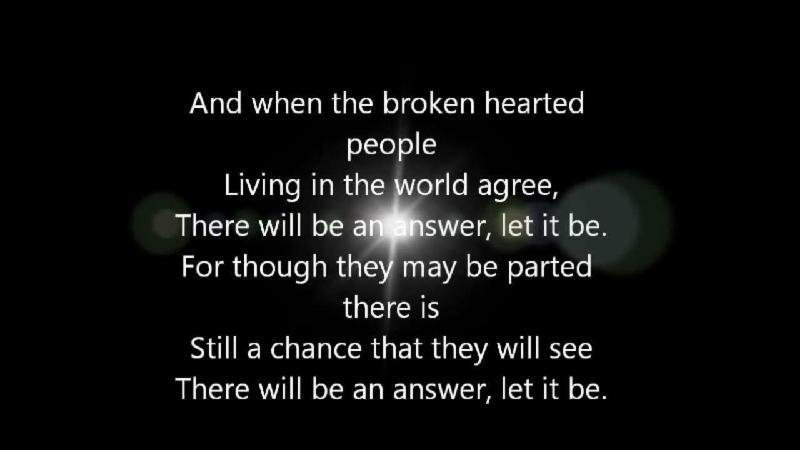 The Beatles - Let It Be Lyrics