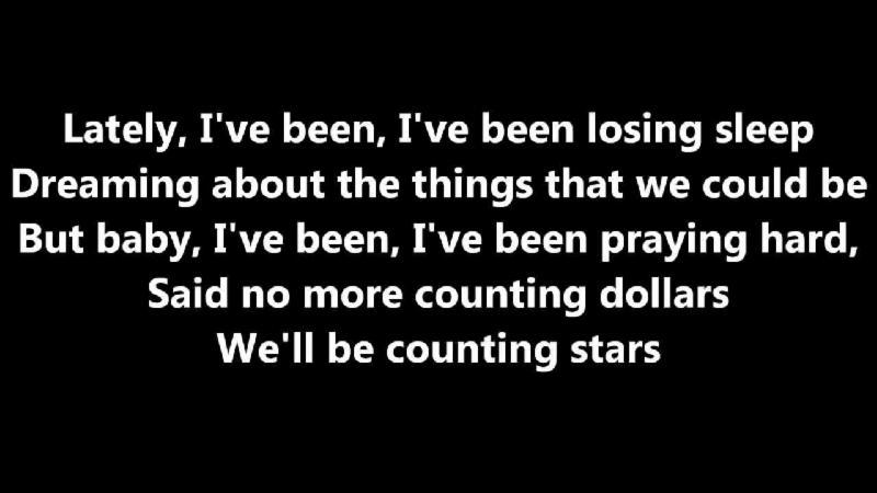 OneRepublic-Counting Stars (Corrected Lyrics)