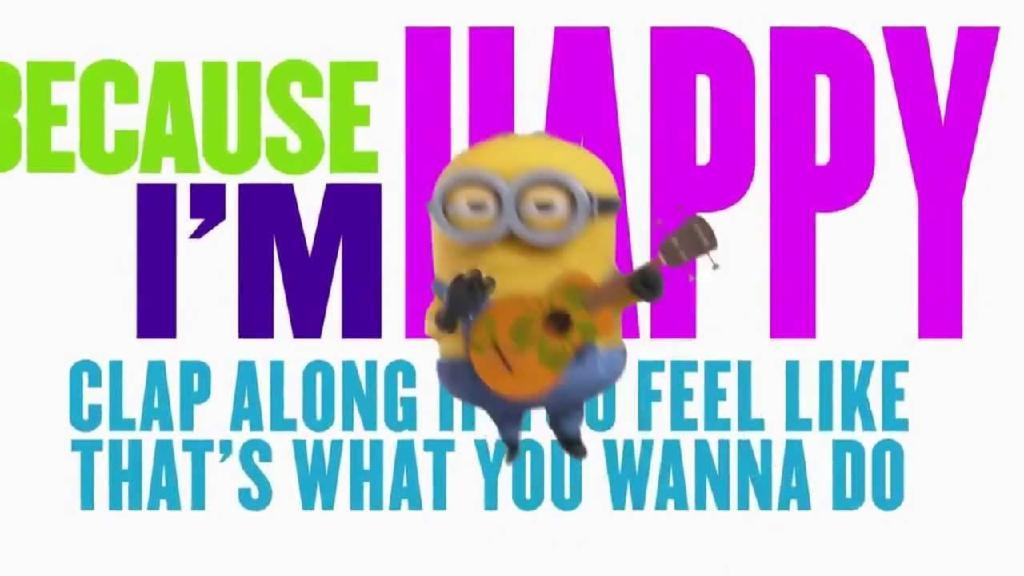 Pharrell Williams-Happy (Lyrics Official Version Minions)