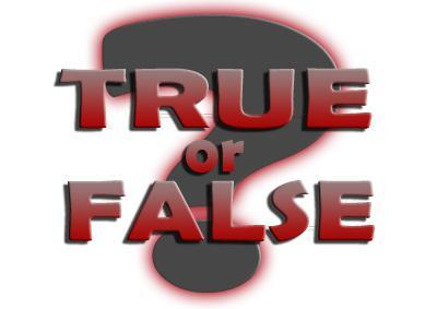 True or False (1)