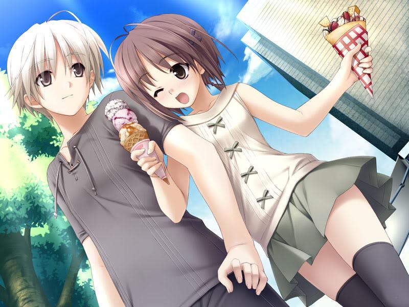 Anime girl and boy dating