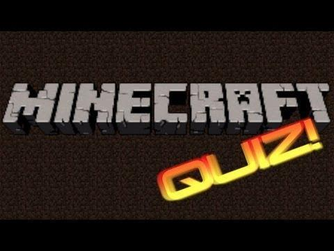 Minecraft Quiz [Don't Cheat on the Internet]