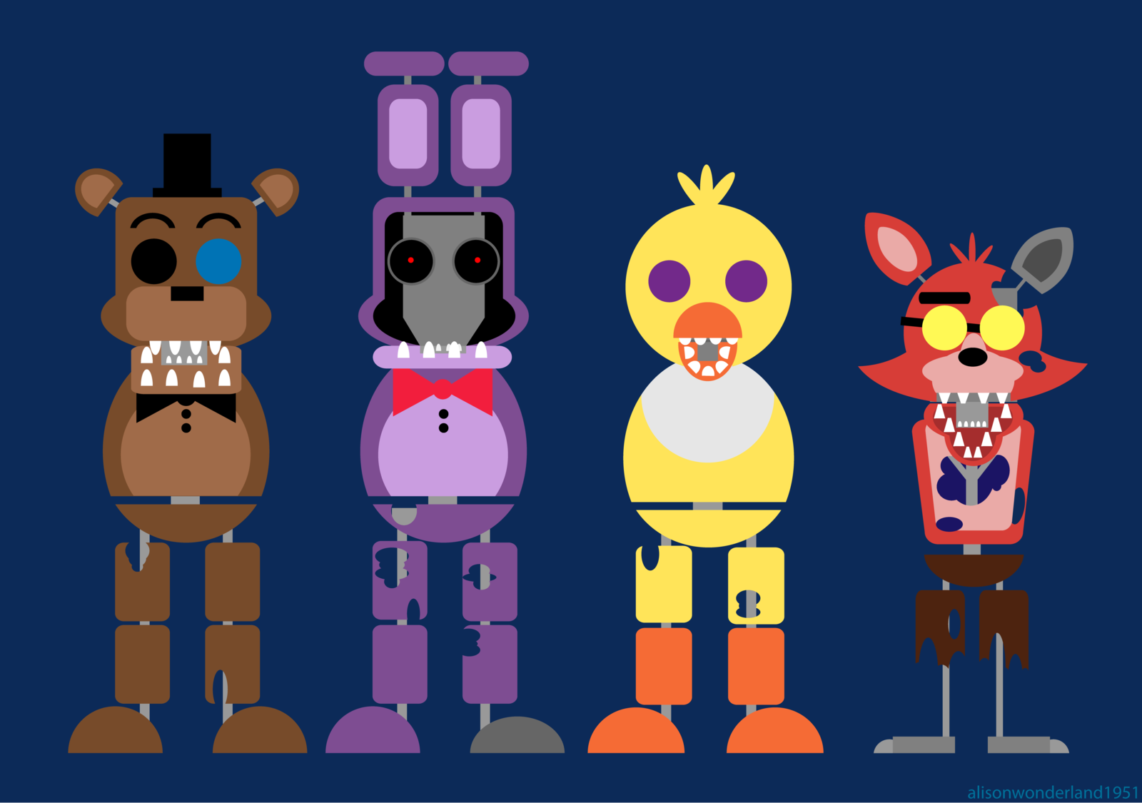which withered animatronic are you