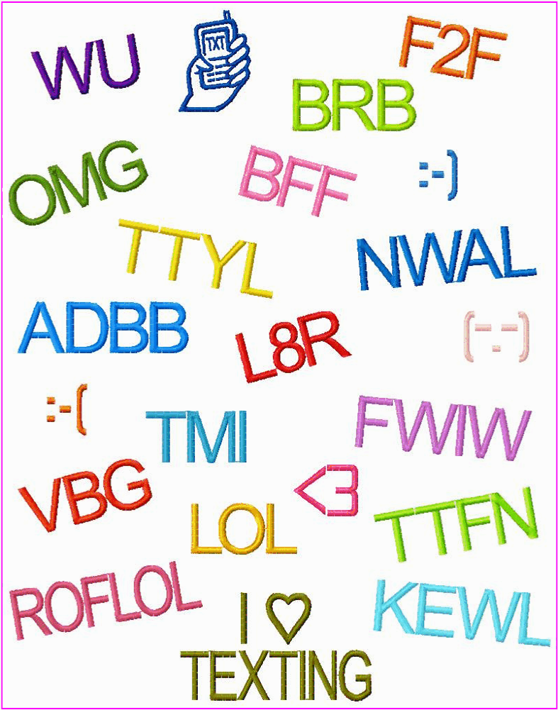texting abbreviations test