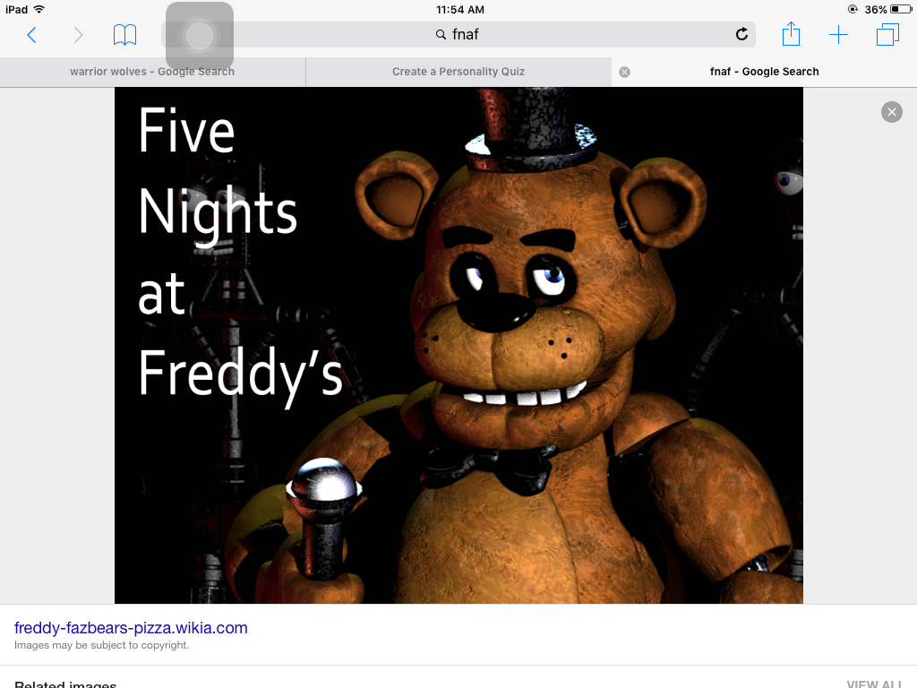 Which fnaf character are you (2)?