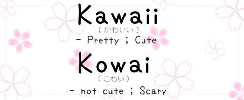 are you kawaii or kowai ?