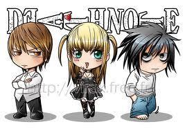 Death Note, misa light L