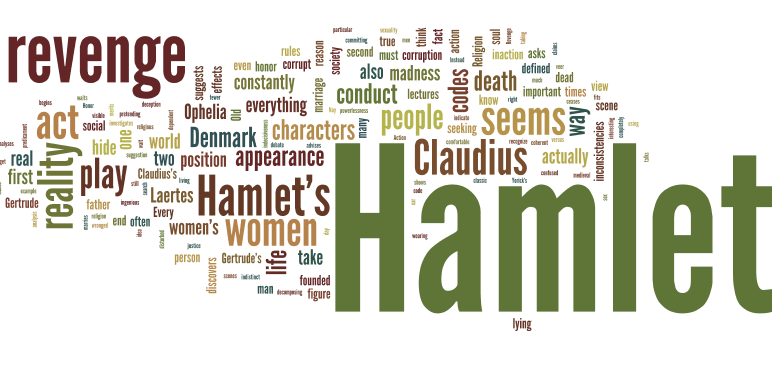 the theme of madness in shakespeares hamlet ♦ the theme of pretense in shakespeare's hamlet ♦ analysis of act five of shakespeare's hamlet ♦ character analysis of horatio.