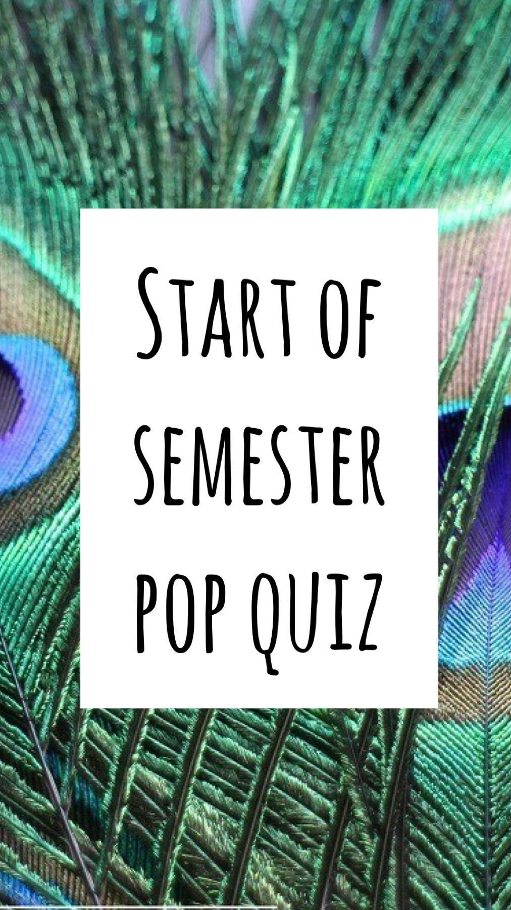 Academy Pop Quiz 1