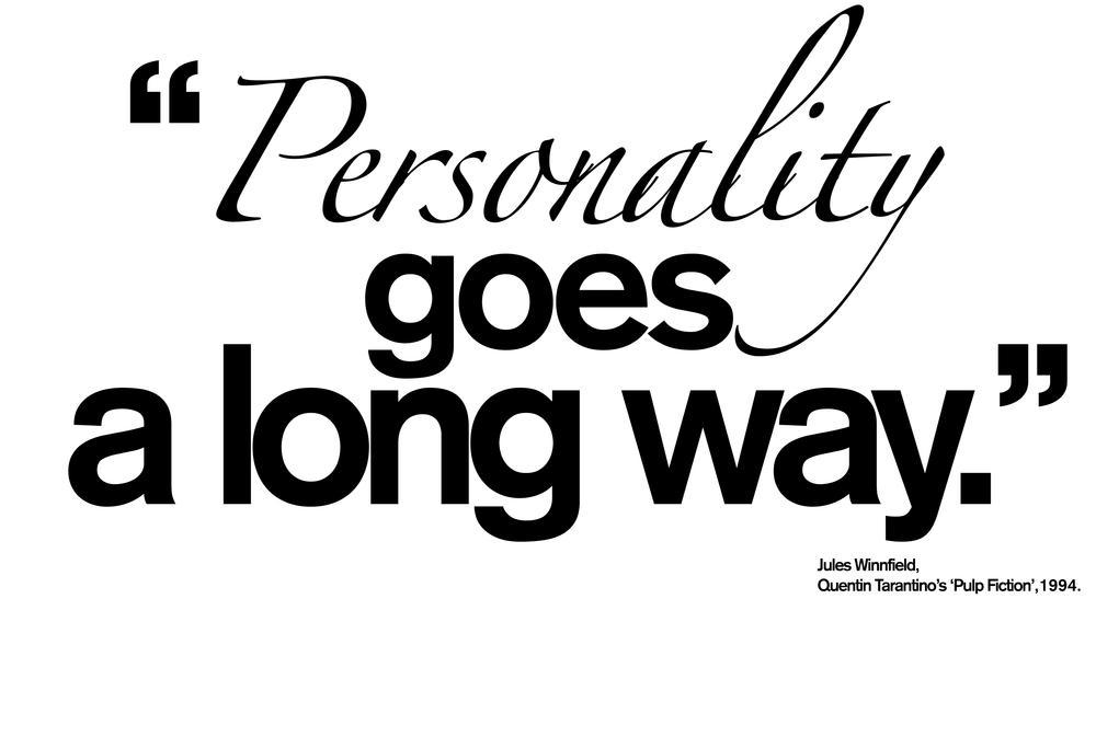 Personality - Determined by You