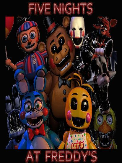 Name the fnaf characters