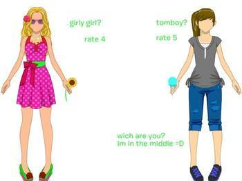 are you a feisty girly girl or a rude tomboy?