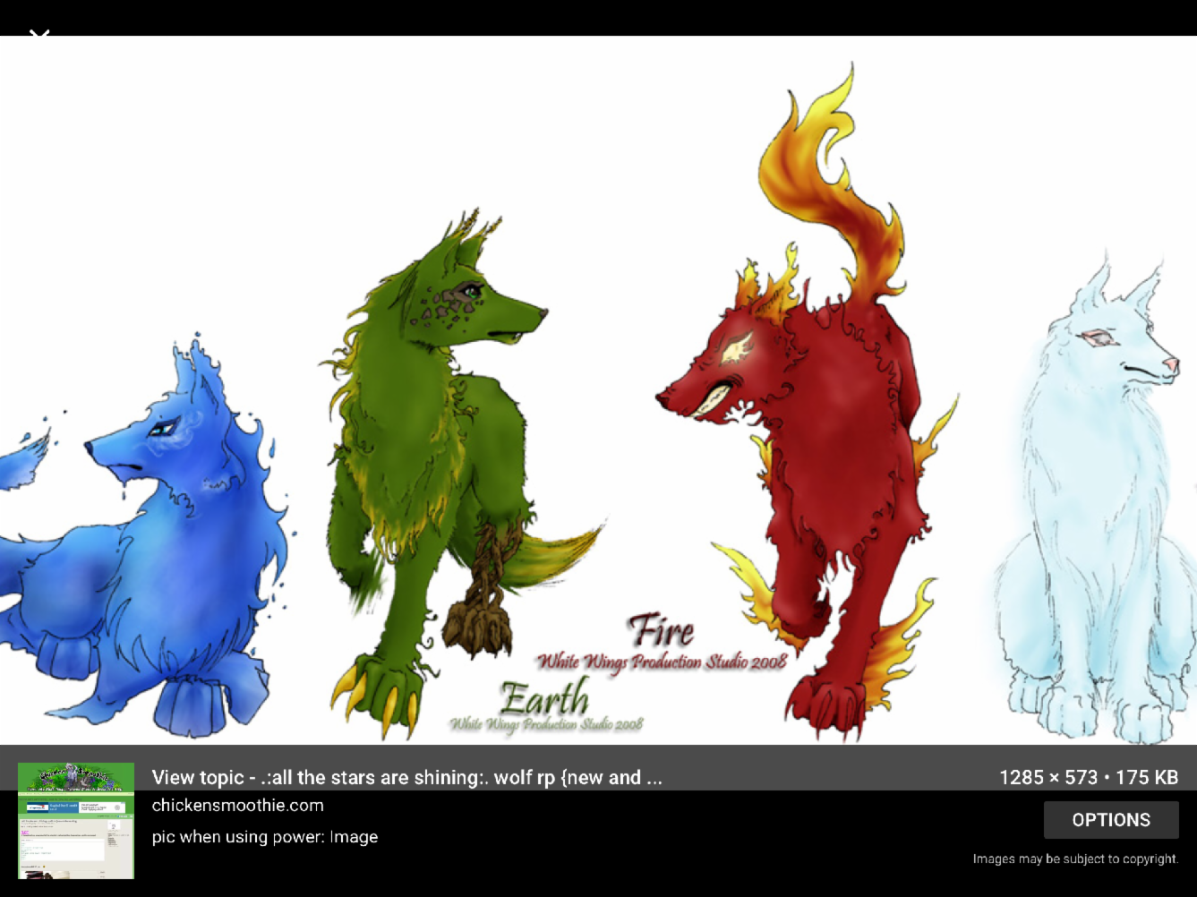 What elemental wolf are you?