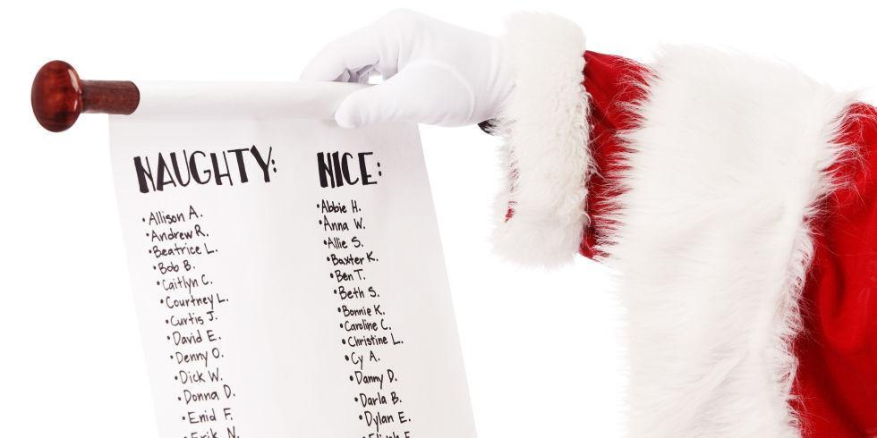 are you on the naughty or nice list ?