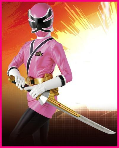 You are the Pink Ranger!
