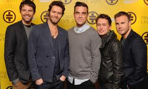 Gimmie a Gary Barlow,Robbie Williams,Jason Orange,Mark Owen and a Howard Donald.What band does it spell? Take ____?