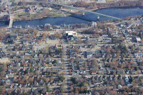Do you ever go into town together?  P.S that town in the picture is Augusta Maine.