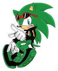 "The dark figure came closer. You tried to walk past it but he kept blocking your path. ""Excuse me,"" You said. ""So your the new student?"" He asked smiling at you. You looked and got a better view. You saw it was a green hedgehog with a black biker jacket and blue eyes."