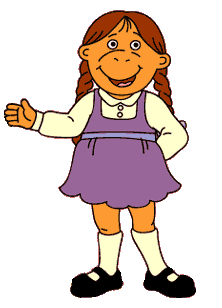 Complete Muffy's first ever line in the TV series: 'How do you get in trouble with the _____?'.