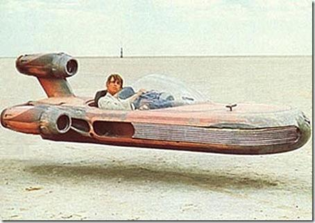 How many people can a Landspeeder hold?